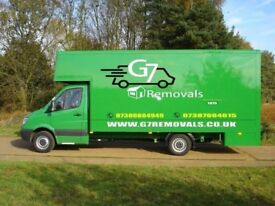 FROM £20 LUTON VAN AND 7.5 TONNE TRUCK MAN AND VAN OFFICE AND HOUSE REMOVAL SERVICES FULLY INSURED