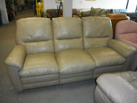 HfH ReStore WEST - leather reclining sofa