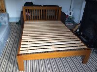 Double Bed frame with drawers from Muji (walnut)