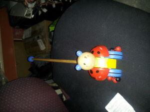 Babys ladybug walking toy
