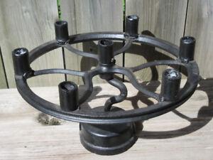 Industrial Cast Iron Candelabra