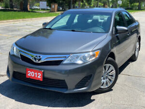 2012 TOYOTA CAMRY LE - CERTIFIED - ONE OWNER - 3 YR WARRANTY