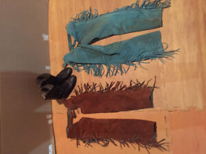 Western horse riding chaps and boots