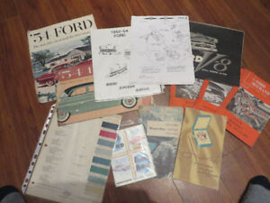 1954 Ford Collection of Rare Brochures-Booklets--Sale Price
