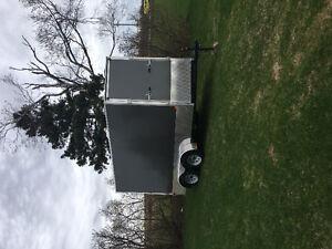 V nose utility trailer