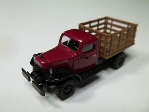 HO Scale 1949 Dodge Power Wagon Stack Truck.