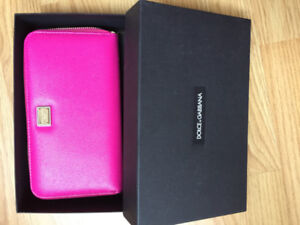 Dolce & Gabbana NEW Pink leather 'Dauphine' wallet