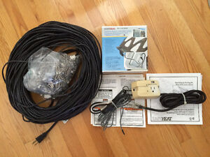 240ft EASYHEAT Roof deicing cable, RS2 controller & clips.