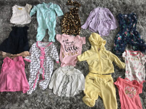 Baby girls clothing 6-12 month 39 items