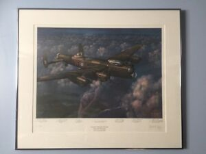 Mynarski Memorial Avro Lancaster BX print by Robert Curry