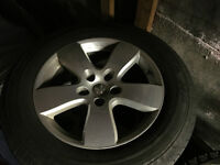 """20"""" dodge ram1500 silver alloy rims with factory tires, low mms"""