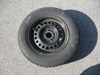 4 Tires with rims, like new - P195/70 R14  90S