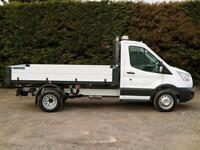 """2015 (65) FORD TRANSIT 350 RWD DRW L2 10'9"""" ONE STOP DROPSIDE TIPPER PICK UP"""