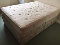 Double bed base with 4 drawers plus mattress