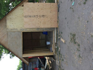 Wood shed brand new