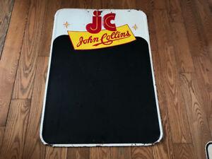 Vieille enseigne «JOHN COLLINS» vintage en excellente état !!