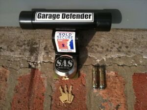 GARAGE DEFENDER MASTER DOOR LOCK MOTORBIKE SECURITY STOP BAR BLACK BIKE CAR JAM