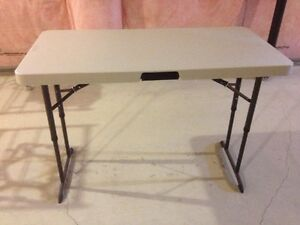 """LIFETIME 48"""" x 24"""" Folding table from Costco"""