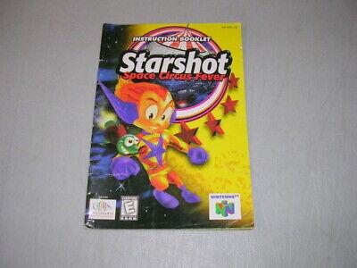 STARSHOT Space Circus (Nintendo 64 N64) Original Instruction Manual, Not A Repro