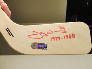 Jay Wells Autographed Miniature LA Kings Hockey Stick from 80's Kitchener / Waterloo Kitchener Area image 2