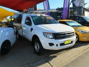 2012 Ford Ranger PX XL Hi-Rider White 6 Speed Sports Automatic Cab Chassis Minchinbury Blacktown Area Preview