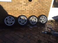 """FORD FOCUS ZETEC 16"""" ALLOY WHEELS AND TYRES TRANSIT CONNECT MONEDO 205-55-16"""