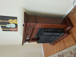 Like new electric fireplace