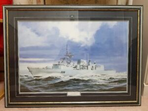 LG CANADIAN NAVY FRIGATE HMCS MONTREAL FRAME  ART PAINTING PHOTO