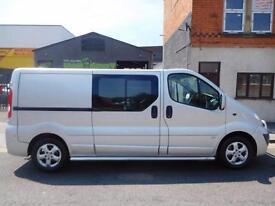 Finance Me NO VAT Vauxhall Vivaro 2.0CDTI Sportive LWB 5 seat factory crew van 5