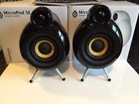 Scandyna Micropod speakers , smallpox big pod pod speakers B&W