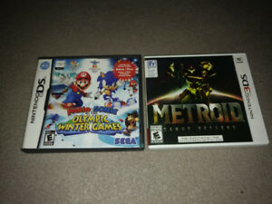 Metroid Samus Returns 3DS et Mario Sonic Olympic Winter Games DS