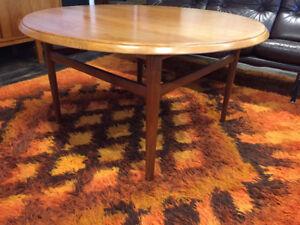 Round Scandinavian Mid Century Modern TEAK Coffee Table