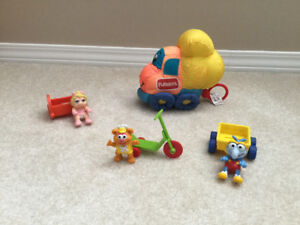 PLAYSKOOL cloth truck and muppet baby toys