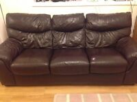 Brown 3 seater sofa