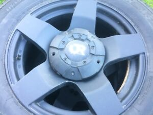 (4) 275/65R18 ARCTIC CLAW WINTERS ON CUSTOM UNIVERSAL ALLOYS
