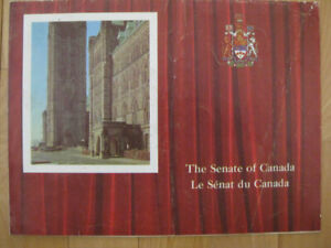 VINTAGE PAMPLET--THE SENATE OF CANADA