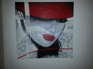 Grosse toile 40x40 Mode look fashion
