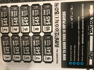 Paintball tickets great for a hockey wind up