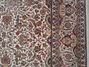 Persian carpet area rug beige patterned Like new condition London Ontario image 3