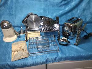 Vintage Mid Century Kitchen Items Rival Slicer GE Toaster Juicer