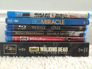 Various Blu-Rays, DVDs and CDs