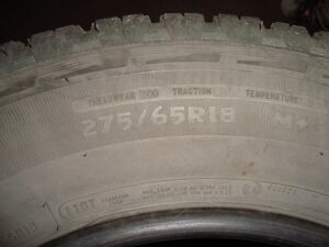 275/65R18 Wild Country tires