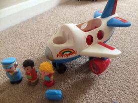 ELC Happyland / happy land aeroplane, includes figures, plane makes noises and lights flash!