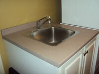 "2 pc Laundry room countertops, 10"" deep sink,faucets & sprayer!"