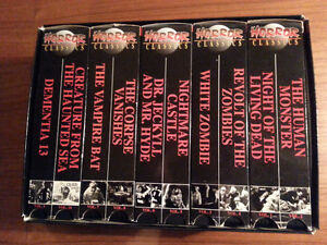 Horror Classics VHS 10 video box set