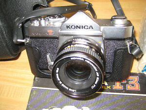 Vintage Konica T3 camera with Konica Hexanon AR 50 mm F.17