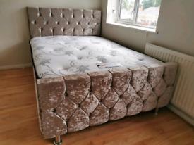 High Quality Crushed Velvet Beds