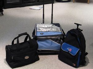 Pack sack, Carry-on and Cooler bag on wheels