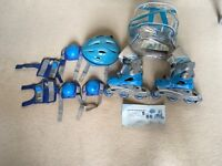 Children's roller skates with helmet and accessories