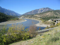 Placer gold claim on Fraser river right in Lytton